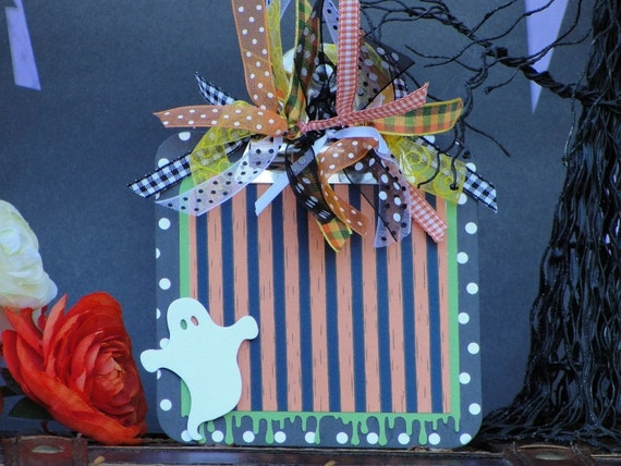 Handmade Halloween Magnetic Photo Frame, Ghosties and Ghoulies
