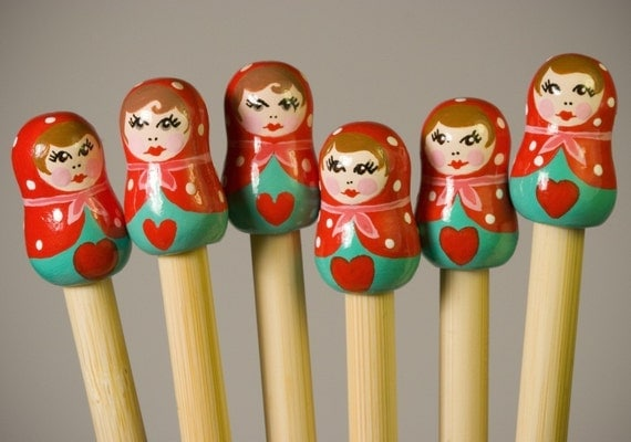 Peppermint Babushka Knitting Needles