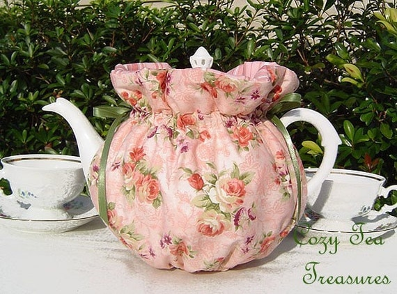 PEACHY KEEN Reversible, Insulated 6-8 Cup Teapot Tea Pot Tea Cozy Cosy Also Available in 1-2 Cup and 2-4 Cup Sizes, Upon Request