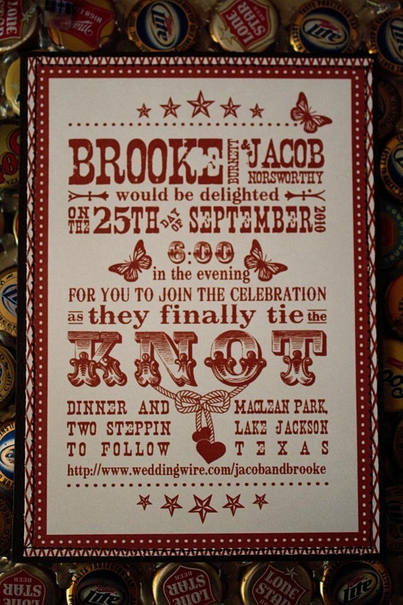 Western Wedding Invitation Suite Download From sproutdesignstudio