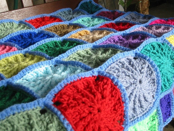 Crocheted Textured Reversible Lap Blanket - Afghans Charity