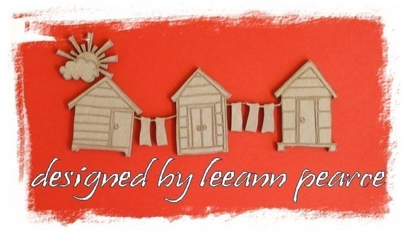 CHIPBOARD - LAZY DAYS - huts with towels