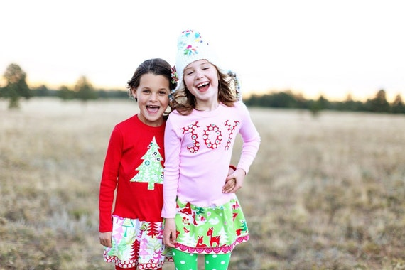 girls holiday outfit, toddler holiday clothing, christmas outfit, handmade christmas clothing, girls christmas clothing, unique christmas clothing