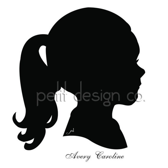 Custom Digital Portrait Silhouette - Free Shipping