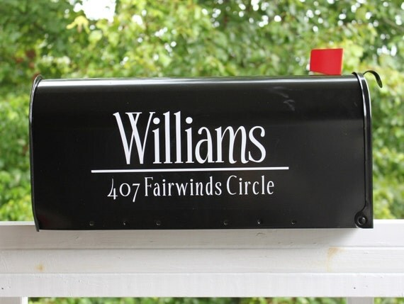 TWO SIDES - Classic Mailbox Address Vinyl Decal