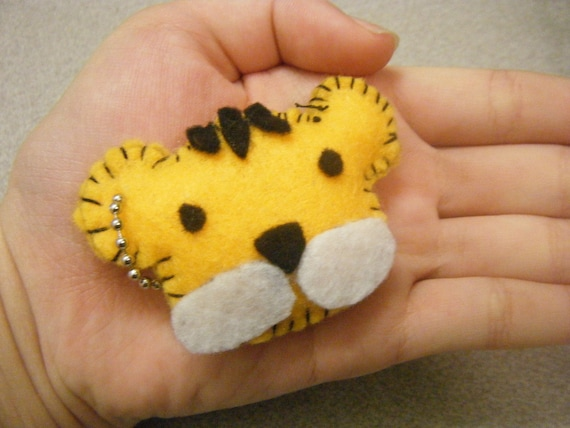 Cute Stuffed Felt Tiger Keychain Jan