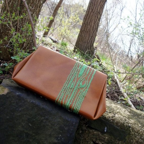 Clutch with Green Tree