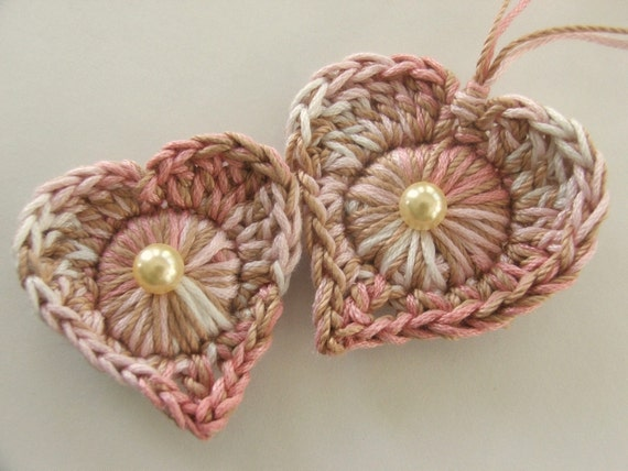 40% off Single Pattern - Delightful Easy Crocheted Heart and Diamond