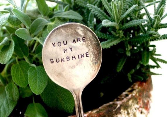 Antique Silverware Garden Marker Plant Stake