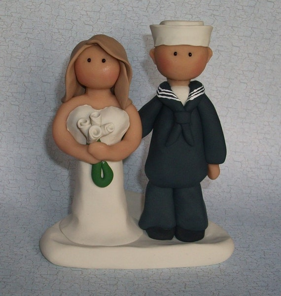 Custom Navy Wedding Cake Topper Have a special keepsake from your wedding