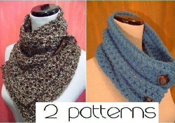 PATTERN - Ziela and Uchenna Crochet Cowls - 2 COWL PATTERNS