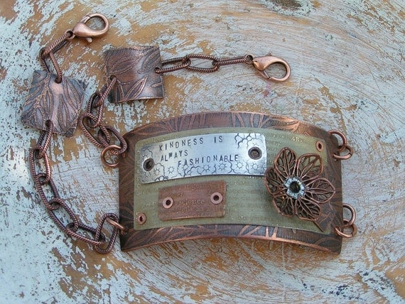 Mixed Metal Layered Kindness Bracelet