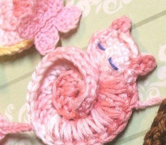 PATTERN - Darling Kitty - Tiny Crocheted Cat Ornament or Applique