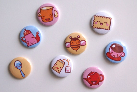 Tea Time kawaii magnets