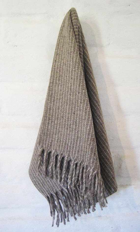 PINSTRIPE 100% Pure Virgin Wool Blanket/Throw/Sarape