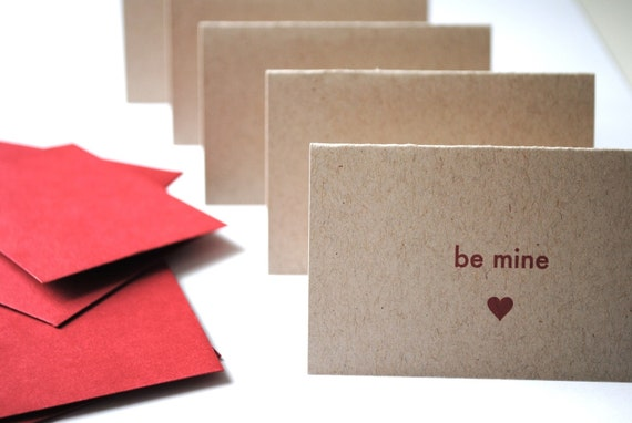 sweet nothings...mini valentine notecards, set of 5