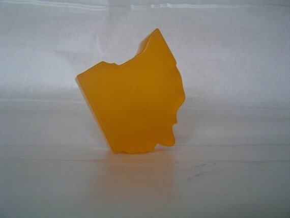 Ohio Shaped Soap- Orange