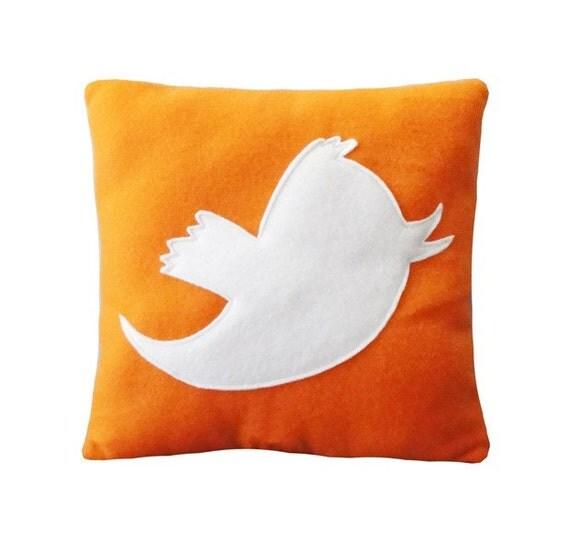 Anony Tweet Pillow - Orange