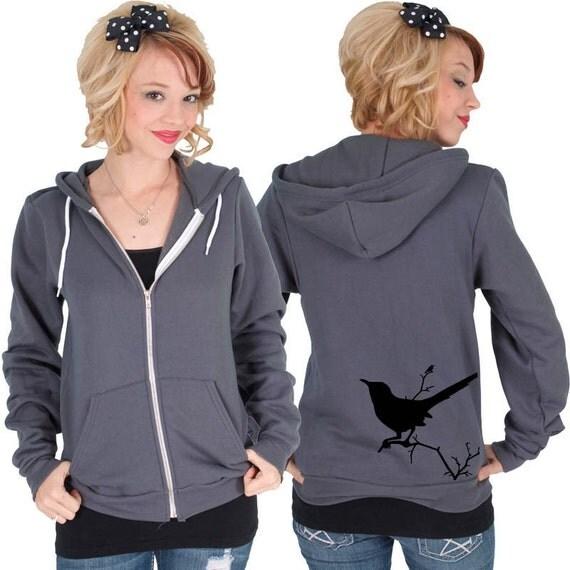 Black Bird American Apparel Hoodie