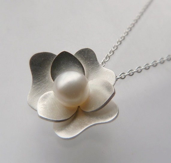 Mother's Day Sale---Gardenia Pendant---Ready to Ship