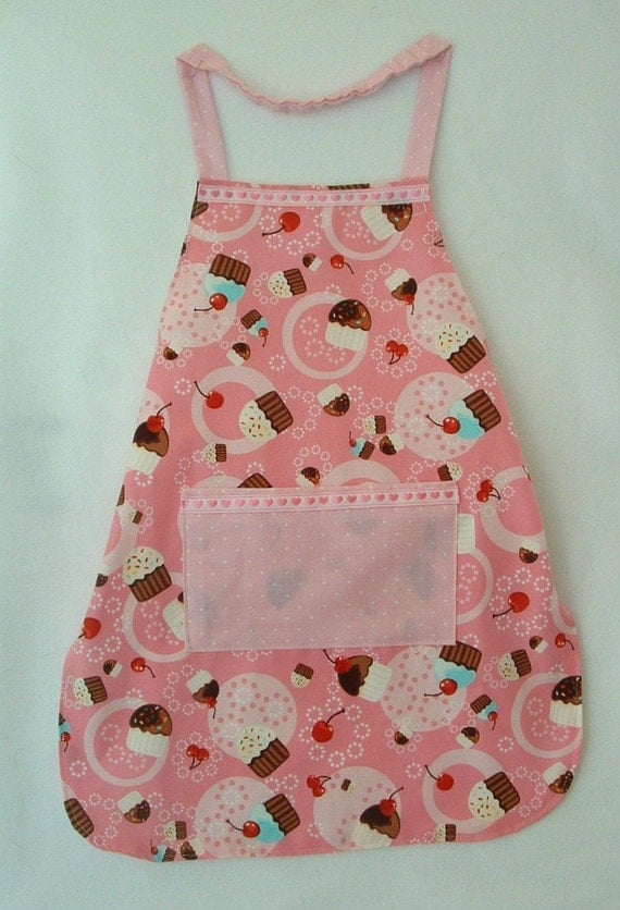 Cupcakes Galore Do It Myself child apron personalized chef style