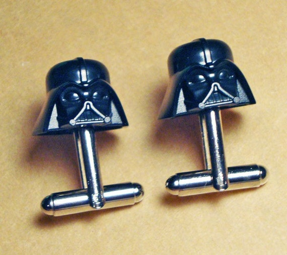 Star Wars Darth Vader LEGO silver toned cufflinks in FREE gift box