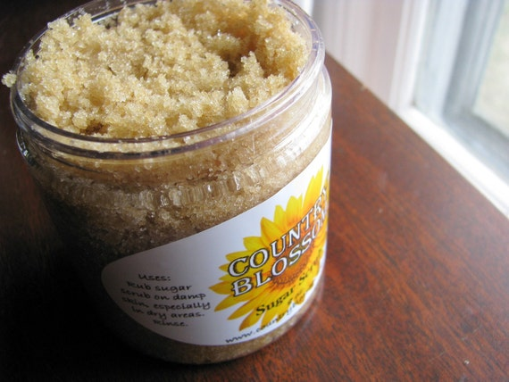 Sugar Scrub by CountryBlossom Made with Olive Oil, Grapeseed Oil and Vitamin E Oil
