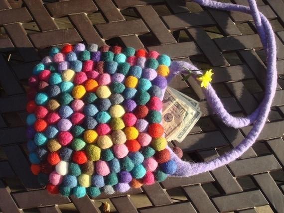 Фиолетовый Starp Gumball войлока сумка от YUMMI