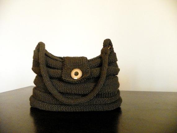 NzLbags Новый - Браун Вязание сумка, сумка - сумка Nr-0124