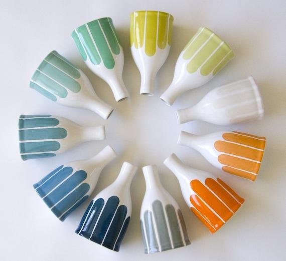 Modern Stripe Bottle Vase