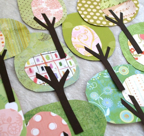 Paper Trees - Friendly Forest Think Spring Collection