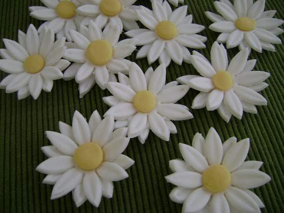 Gumpaste daisies for cakes and cupcakes