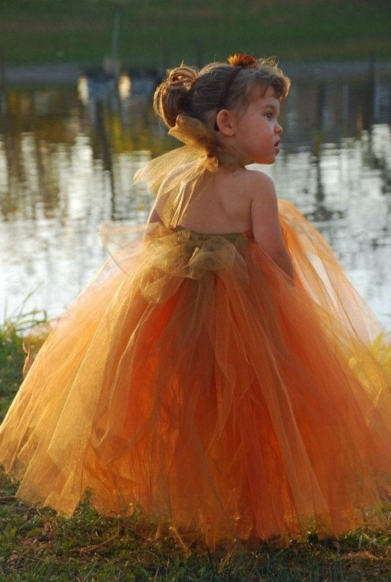 Pumpkin Spice-----TUTU DRESS or Tutu---Available in Many Color Combinations----Perfect for WEDDINGS
