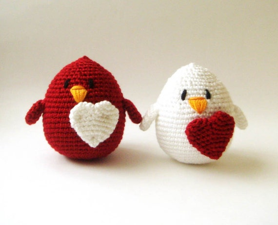 Valentine  Couple Love Birds (setof 2) wedding cake topper ornament