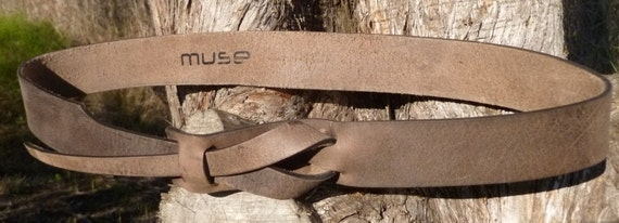 Safari Brown UNISEX Muse Belt 11/2 inch Nickel Free by MuseBelts from etsy.com
