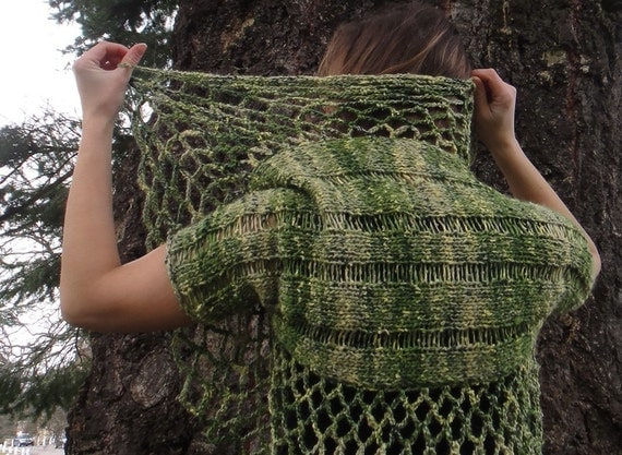 Green Leaves lace shrug - Sale