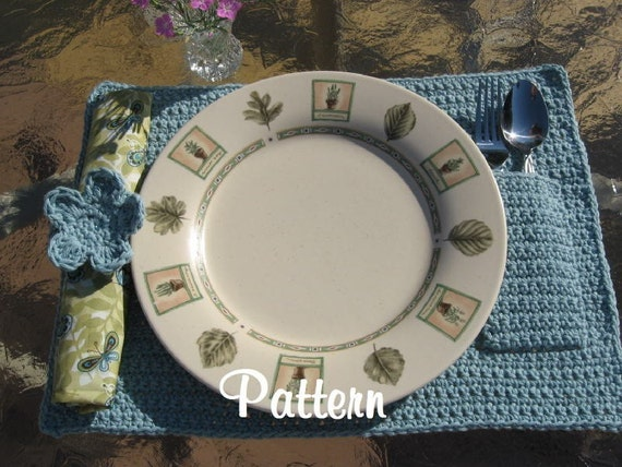 Napkin Rings and Placemats to Crochet: Free Crochet Patterns for