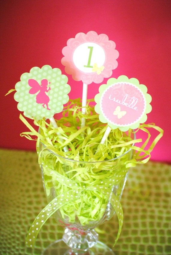 Garden Fairy Collection - PRINTABLE PARTY CIRCLES by Itsy Belle