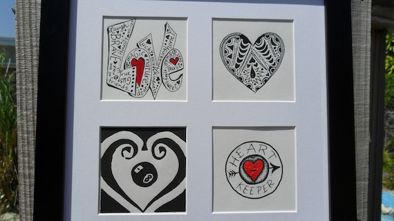 Framed Illustration Love 4 Ways