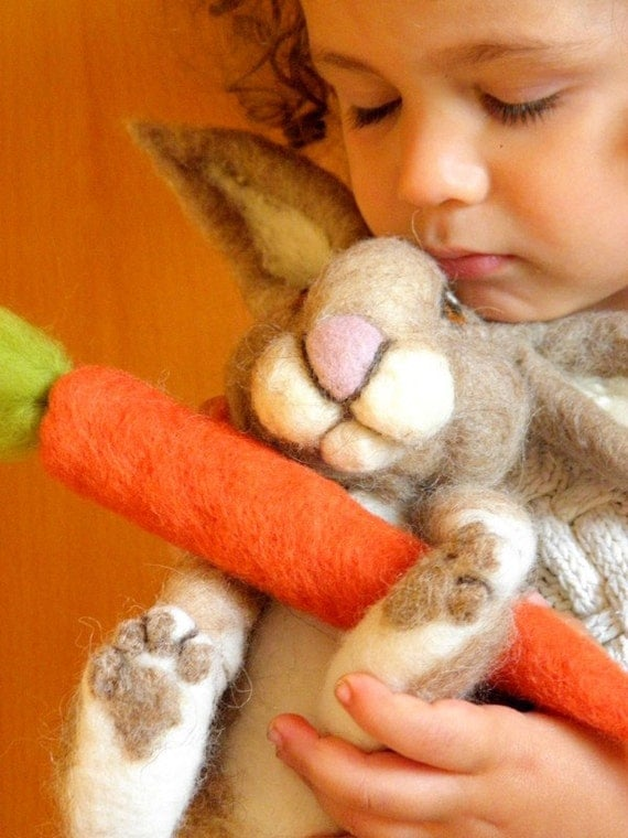Needle Felted Bunny Rabbit- Made to order