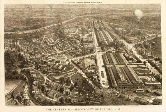 Vintage Map - Philadelphia - Centennial Grounds 1876