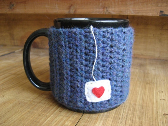 Cup of Love Mug Cozy in Blue Mist