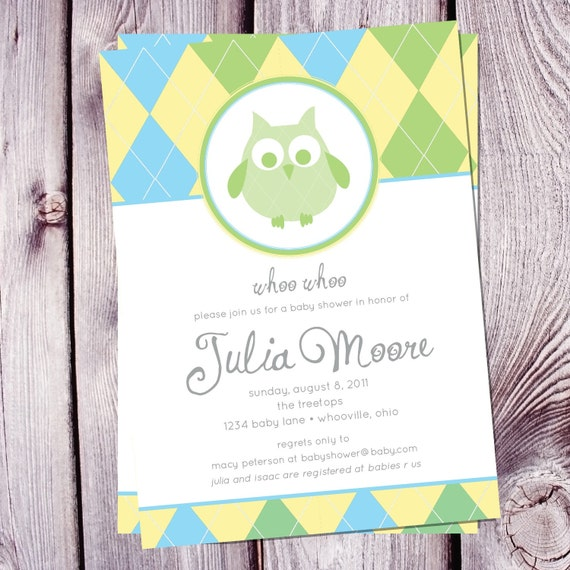 Whoo Whoo Baby Shower Invitation - Set of 25