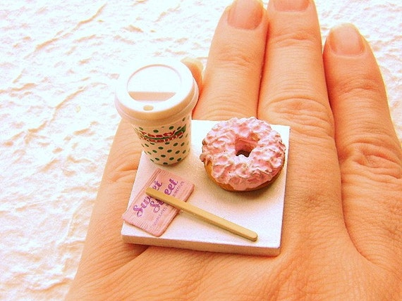 Coffee And A Donut To Go Ring