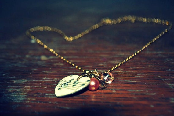 Sheet Music Charm Necklace
