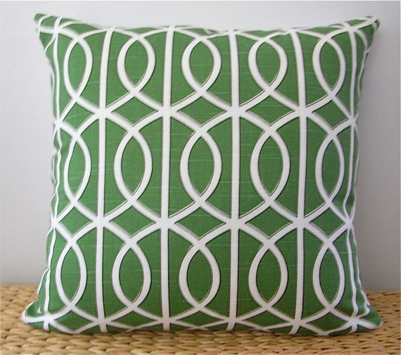 "Watercress Dwell Studio Pillow Cover 17"" square"