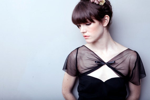 The Harlow Silk Tulle Bolero - MADE TO ORDER