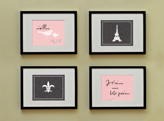 Chic Blush Pink: Set of (4) 8x10 Prints, BUY 3 GET 1 FREE
