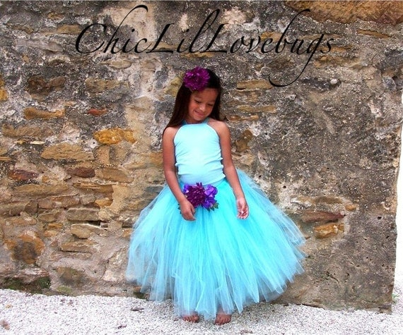 Custom Made to Order High HALTER Corset top and tutu bottom skirt sizes infants toddler girls