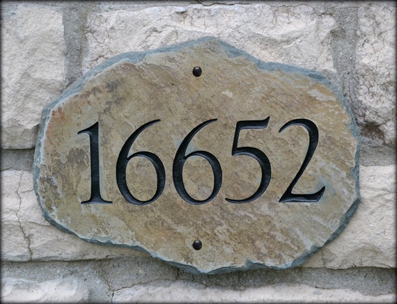 ADDRESS STONE Mailbox Plaque / House Marker Home Number Sign Column